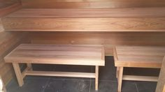 Sauna Saunas, Tree Branches, Dining Bench, Art Pieces, Spa, Cabin, Furniture, Home Decor, Decoration Home