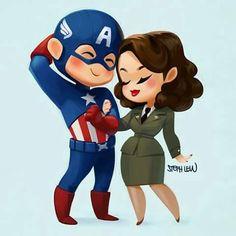 Capitão e Peggy <3
