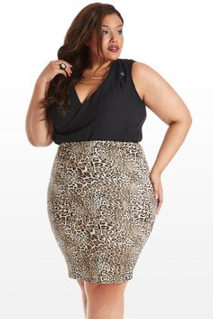 Animal Pencil Skirt (plus size) - I just bought this online!  You should too!  It's only $24!!!!!  Serio!