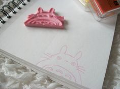 Kawaii Totoro Hand Carved (handcarved) Stamp