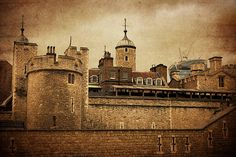 """""""Broad Arrow Tower"""", Tower of London by Kristina Austin Scarcelli.  Broad Arrow Tower was originally a key part of the medieval fortress at the Tower of London. From it, soldiers could guard the east curtain wall with their crossbows.   In later years, Broad Arrow Tower became a prison and it still contains many inscriptions from prisoners that awaited execution here in the 16th and 17th centuries."""