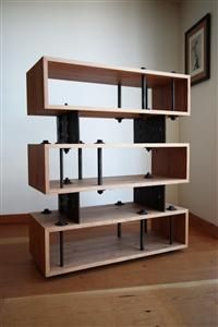 Hammer and Hand is a construction company out of Portland, Oregon that reuses remnants from the construction site to create modern industrial furniture. Cabinet Furniture, Metal Furniture, Upcycled Furniture, Custom Furniture, Furniture Design, Reuse Furniture, Modern Interior Design, Interior Architecture, Bookcase Shelves