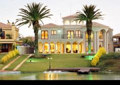 North West, Hartbeespoort, West Lake Country and Safari Estate property. Millionaires Mansion on the Water in Bushveld Estate Millionaire Mansion, West Lake, North West, Safari, Mansions, Country, House Styles, Water, Home Decor