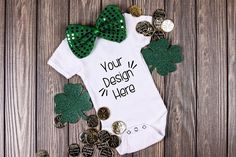 March Baby Suit Mockup 4| St Patricks Day Baby shirt Mockup St Patrick's Day Crafts, Crafts For Kids, March Baby, Baby Suit, St Patrick Day Shirts, Cricut Tutorials, Shirt Mockup, Green Shirt, St Patricks Day