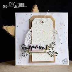Carterie : Make and Take Version Scrap Paris {By Gwen} - DIY and cie Version Scrap, Pochette Surprise, Tampons, Mini Albums, Diys, Paper Crafts, Paris, Holiday Decor, Scrapbooking