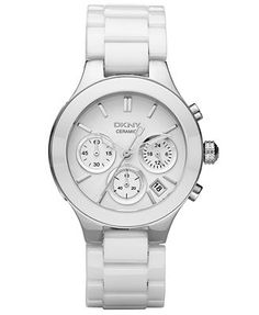 DKNY Watch, Women's White Ceramic Bracelet NY4912