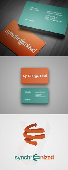 #Free #StockLogo and #BusinessCard Templates - Synchronized Computer #Logo