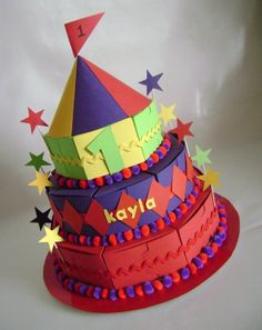 Circus Carnival Theme Favor Box Cake