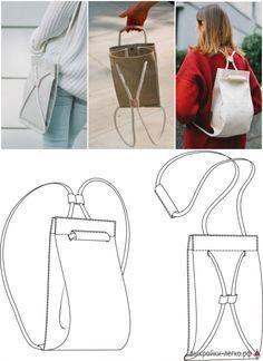Muster rucksack tasche | Einfach nähen - Pattern-Easy.RF Source by bhfle