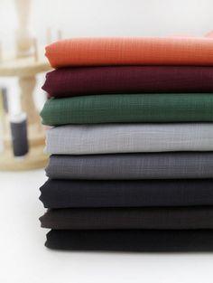 Cotton Linen  Blend Fabric 1/2 Yard by LittleLilbienen on Etsy, $4.00
