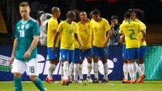 Länderspiel im März : Deutschland-Brasilien 0:1 - Sieg gegen Deutschland: Brasilien revanchiert sich für Halbfinal-Aus bei WM