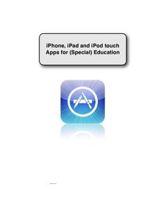 An amazing list of apps for Iphone/Ipad including special education, reading and much more