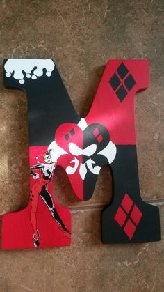Harley Quinn Customized Letter by JayJayLetters on Etsy