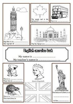 Pages de garde du cahier d'Anglais (L'école de petite Prune)