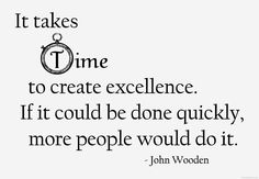 John Wooden about time