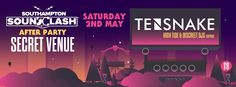 SOTONIGHT | Southampton Soundclash Afterparty - May 2015 - Tensnake - http://www.sotonight.net/event-tickets/southampton-soundclash-afterparty-may-2015-tensnake/  Soundclash Presents our 3rd After party featuring Tensnake BUY TICKETS TENSNAKE Discreet DJS High Tide Saturday 2nd May 10pm – Late £8 Early Birds Venue announcement coming soon…