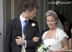 """Lady Rose Windsor married George Gilman wearing the Gloucester """"Leafage"""" Iveagh Tiara on 21 July 2008. This tiara originated as a wedding gift to Queen Mary, from the Earl and Countess of Iveagh, in 1893. Queen Mary passed on the favor to Lady Alice Montagu-Douglas-Scott for that Lady's marriage to her Majesty's son, Prince Henry, the Duke of Gloucester."""