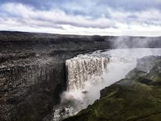 Detifoss in Iceland is Europe's most powerful waterfall and was used in the opening scene for the film Prometheus. [4032x3024]   landscape Nature Photos