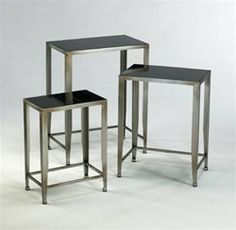 Nesting tables - not too modern but just enough.