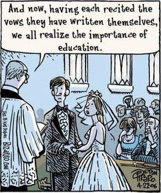38 Snarky Comics That Capture Teacher Life in 2019 Bizarro teacher comics_Bored Teachers 40 Meme Comics, Dc Comics, Bizarro Comic, Anxiety Cat, Memes Humor, Funny Memes, Funny Gifs, Cat Memes, Funny Wedding Vows