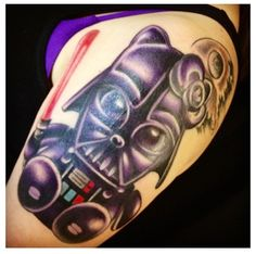 Darth Vader Hello Kitty tattoo