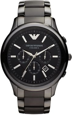 1ea4c565c3d Emporio Armani Men s Chronograph Black Ceramic Bracelet Watch 47mm AR1451  Relógios Legais