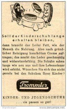 Original-Werbung/ Anzeige 1943 - TROMMLER KINDER- UND JUGENDSCHUHE - ca. 45 x 70 mm