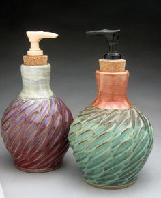 Soap Dispenser by jeffbrownpottery on Etsy, $30.00
