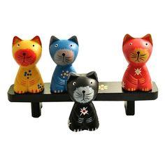 猫咪小动物创意可爱木制家居摆件摆饰节日结婚礼品礼物促销包邮的图片