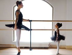 Precious!  A Dancer's first dance idol - her teacher.
