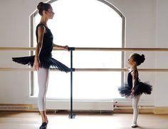 Precious!  A Dancer's first dance idol - her teacher.