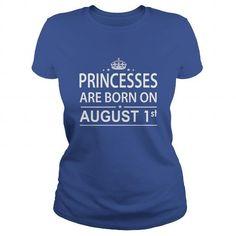 Cool 0801 August 1 Birthday princess born Shirts T Shirt Hoodie Shirt VNeck Shirt Sweat Shirt Youth Tee for Girl and Men and Family T-Shirts