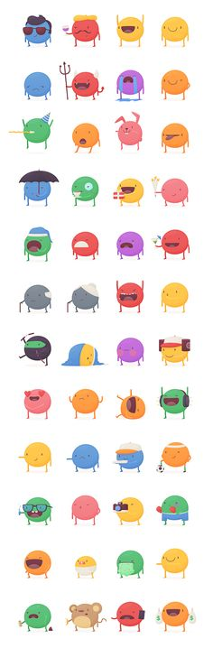KeWe Stickers by Thomas Fitzpatrick, via Behance