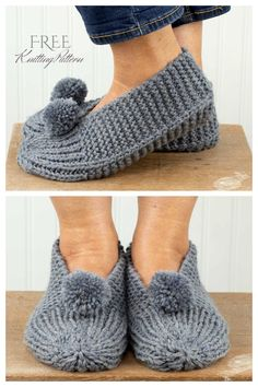 Crochet Mittens Free Pattern, Knitting Patterns Free, Knitting Designs, Knit Crochet, Knitting Stiches, Easy Knitting, Knitting Socks, Knitted Booties, Knitted Slippers