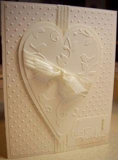 monochrome wedding card - very pretty