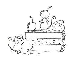 Sliekje digi Stamps: Cake
