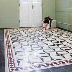 VIA GmbH // a floor for classic and modern buildings. Terrazzo Floor Slabs - Cement Floor Tiles - Via Terrazzo as a very special floor covering! Painting Tile Floors, Painted Floors, Terrazzo Flooring, Concrete Floors, Tiled Hallway, Antebellum Homes, Victorian Interiors, Unusual Homes, Indian Homes