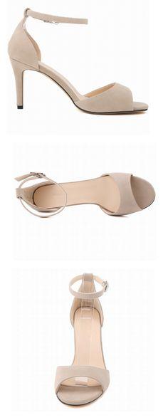 321bc16795517 Thin High Heels 2018 New Arrive Women Flock Sandals Heeled Open Toe Summer  Woman Shoes Just