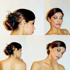 #penteado #acconciatura #maquiagemdourada trucco #blogger