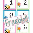 {FREEBIE!!} This is a set of Spring calendar cards numbers 1-31! Also included are 2013 and 2014 year cards! These cards are set up in an ABCC Pattern!  dreambigkinders.blogspot.com