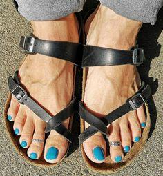 Men Nail Polish, Toe Polish, Beautiful Toes, Pretty Toes, Polished Man, Polished Toes, Mens Nails, Male Grooming, Birkenstock Mayari