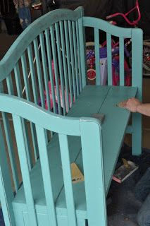 Crib upcycling... I love this idea because you can pass something (like this bench made from his/her crib) on to your child when they get their first home!!!
