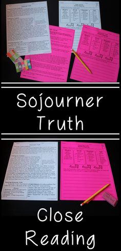 Sojourner Truth Reading Comprehension Paired Passages - great for teaching famous Americans too!