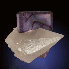Fluorite on calcite, 6.2 × 5.0 × 4.0 cm, Josefa-Veneros Norte vein, La Collada, La Viesca–La Collada area, Pola de Siero, Asturias, Spain.
