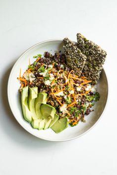 Cumin Lime Black Bean Quinoa Salad (quick + easy!)Add Chicken and Sweet Potato