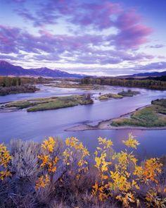 Early autumn, Snake River, Swan Valley area, Idaho; photo by Leland Howard