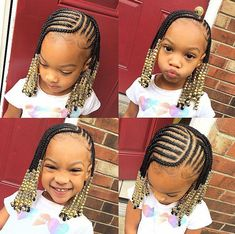 Black Kids Braids Hairstyles, Little Girls Natural Hairstyles, Toddler Braided Hairstyles, Toddler Braids, Baby Girl Hairstyles, Pretty Hairstyles, School Hairstyles, Children Braided Hairstyles, Hairstyle For Kids