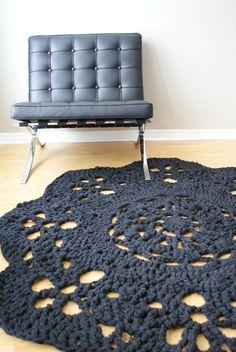 Crochet PATTERN - Throw Blanket / Rug Super Chunky Doily 8 Styles (30-66 diameter) (blanket003) via Etsy