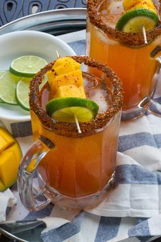 A sweet and spicy cocktail made with vegetable juice, mango tequila, Tajin, hot sauce and beer. This Spicy Mango Michelada is the perfect poolside drink this summer! Buffalo Chicken Sandwiches, Chicken Sandwich Recipes, Tequila Sunrise, Easy Cocktails, Cocktail Recipes, Michelada Recipe, Mexican Drinks, Cookout Food, Make Ahead Lunches