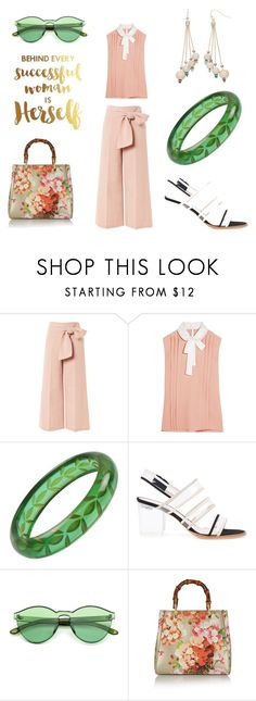 """""""Behind Every Successful Woman"""" by aqualyra ❤ liked on Polyvore featuring Topshop, Miu Miu, RITCH ERANI NYFC, Gucci, modern, WorkWear, romantic and Eclectic"""